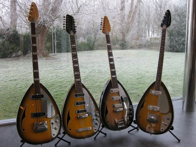 L-R 1966 Wyman Bass (British model) - 1966 Spitfire Mk XII (British Model) - 1966 Spitfire Mk VI (British Model) - 1965 Wyman Bass (British Model)..jpg